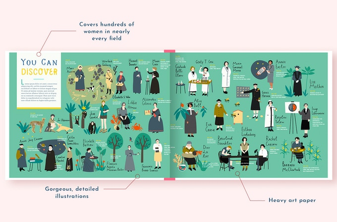 Filled with illustrations of 1,000 women heroes