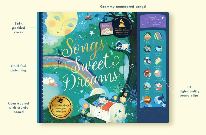 Original, Grammy-nominated songs make this a one-of-a-kind bedtime treasure!