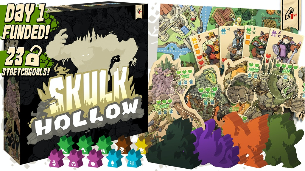 Skulk Hollow: An Asymmetric, 2-Player Game with Epic Meeples project video thumbnail