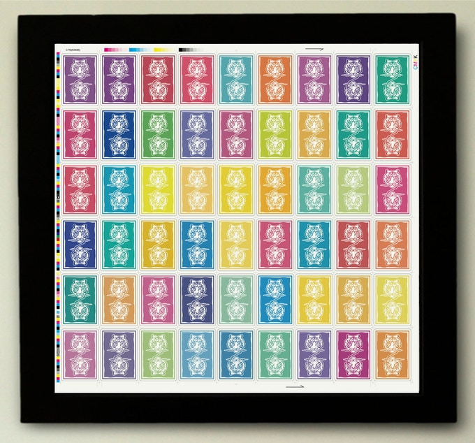 The Rainbow Uncut Sheet (reward without the frame)