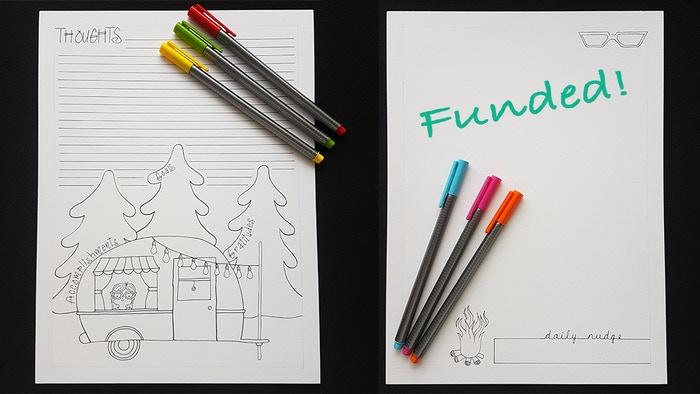 A simple tool that uses writing and drawing to help those who suffer from eating disorders develop their daily journaling practice.