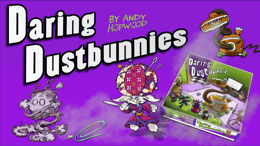 Daring Dustbunnies the board game project video thumbnail