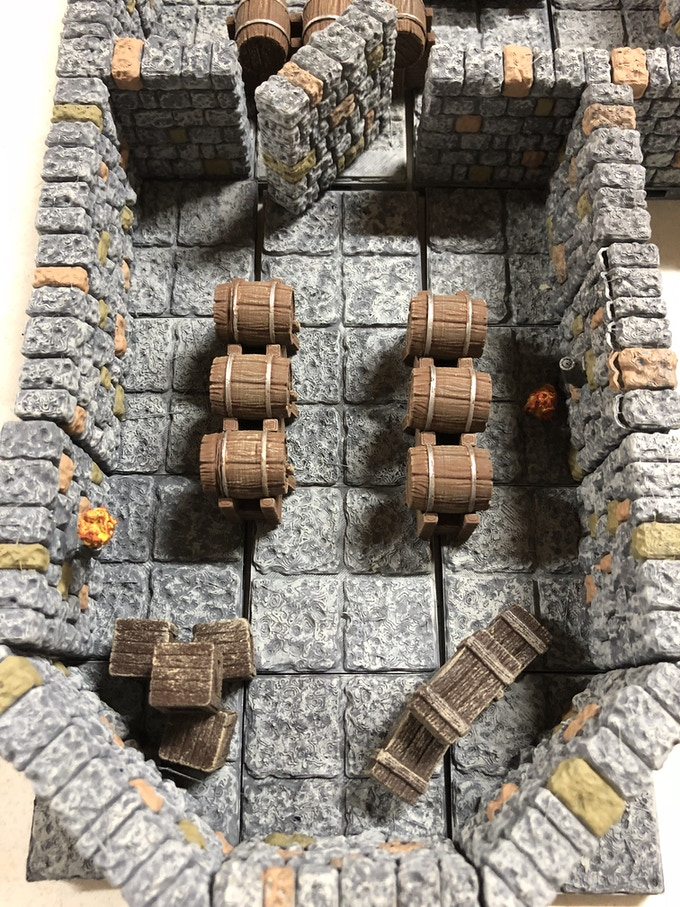 Secret Room.     **These are just some of the examples of the Painted Dungeon Tiles Available.       Accent pieces not included.   Click on Picture to see more options.