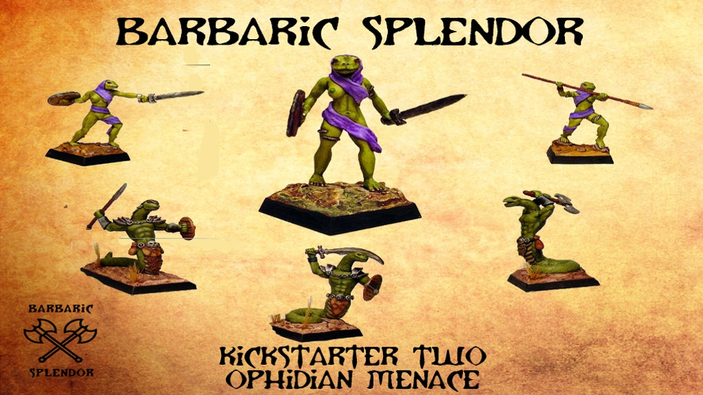 Project image for Barbaric Splendor Kickstarter Two: Ophidian Menace