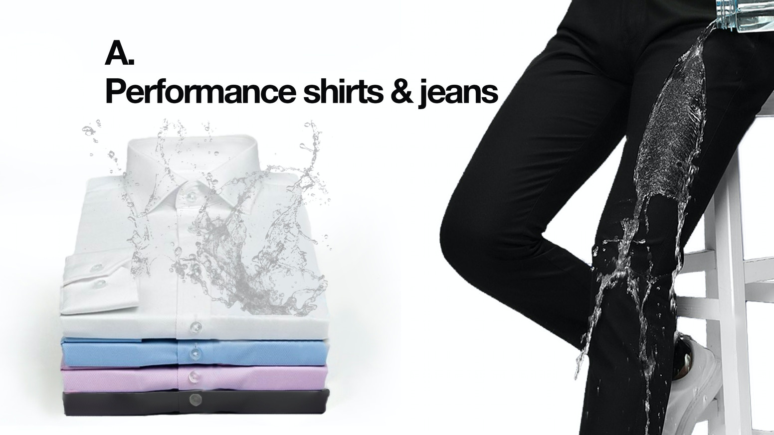 2f2ee52685 The fresh take on shirts   jeans for work and everyday wear. Stay dry even