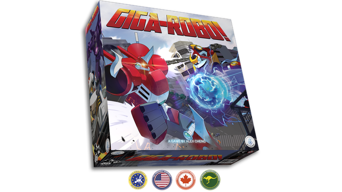 Giga-Robo is the card-driven miniatures game of anime giant robot combat, where 2-6 players duel across a fully destructible 3D city.