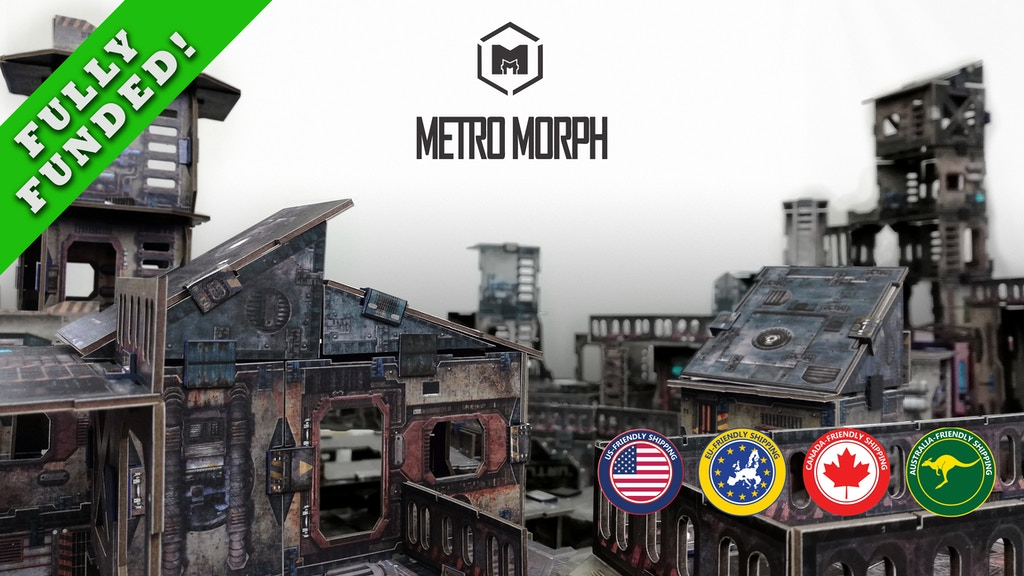 Metro Morph: ready-to-play modular card wargaming terrain project video thumbnail