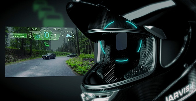 Motorcycle Helmet With Hud >> Jarvish The Smartest Motorcycle Helmet Ever Made By Jarvish