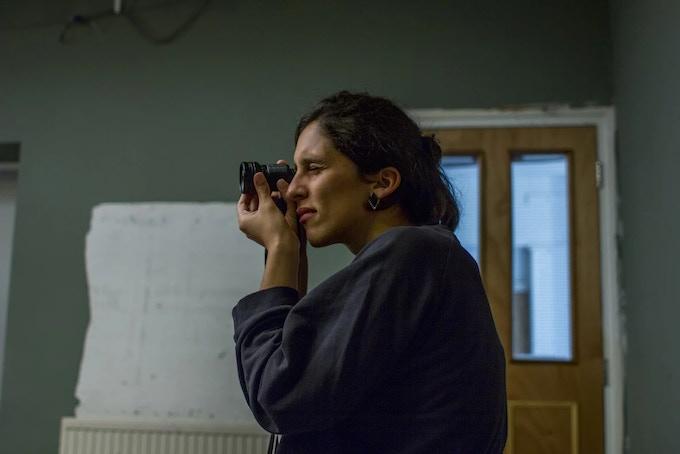 Camera operator Ana Ladislau on set