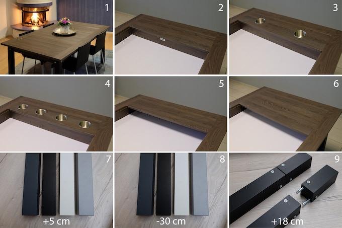 The table upgrades as addon / Tischupgrades als Zubehör