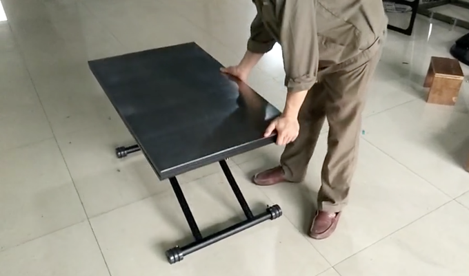The first prototype of the X Table 2.0 with Stainless Steel Top (Level Three)
