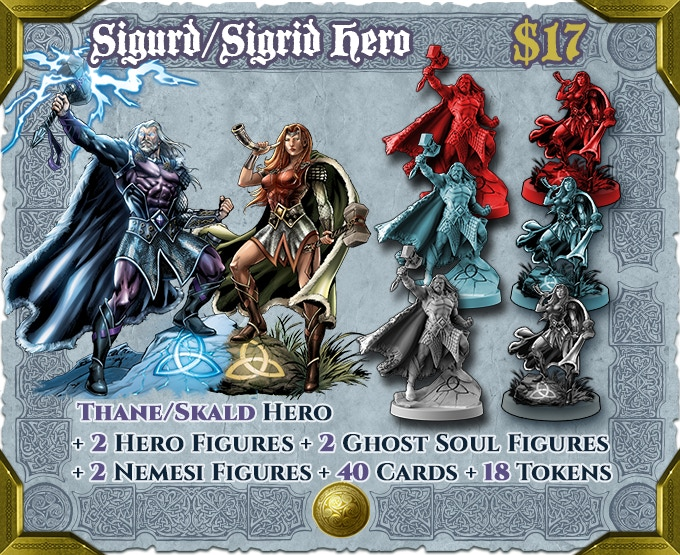 Add Sigurd and Sigrid together at a reduced cost. Includes Deluxe Hero Sheets and Soul Gems for both characters.