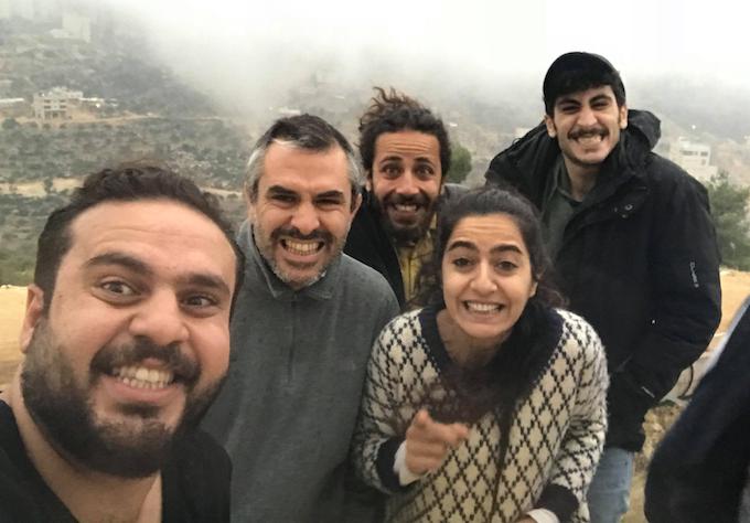 Rehearsing in windy Ramallah. Nov 11, 2018