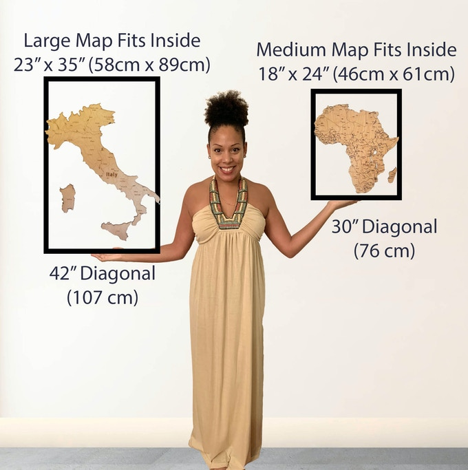 Comparitive Size of Maps
