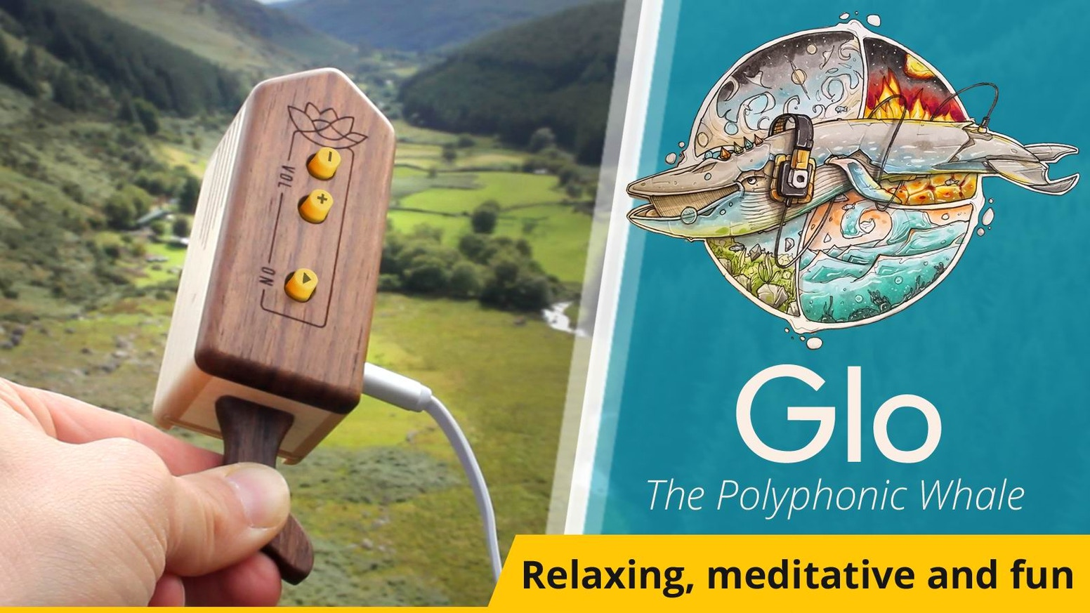 A pocket-sized device that transforms the sounds of your world into a melodic ambient soundtrack. Enclosed in a handmade wooden case. Missed the campaign? No worries, now you can pre-order your Glo at our website: