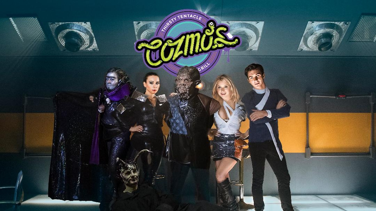 """Cozmo's"" is like ""Cheers"" in space: smart, funny, & packed with tons of science fiction legends like Ethan Phillips & Robert Picardo!"