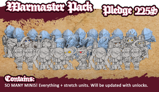 Note if we get the last $549 for the last stretch goal ... 8 miniatures worth $64 will be added for free to this pack!