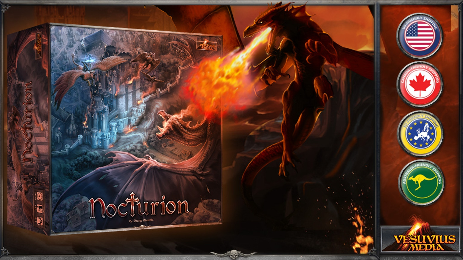 A Dark Fantasy, dice rolling, worker placement and resource management game for 2 to 4 players.