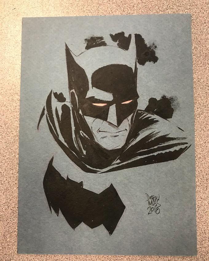 Batman B&W 5x7 sketch