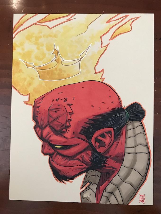 9X12 Full Color Head Sketch