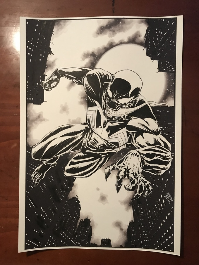 11x17 Full Body Black and White Commission