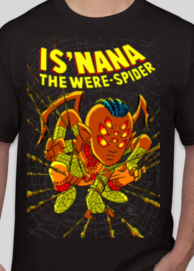 Is'nana the Were-Spider T-Shirt - Art by Chris Giarrusso