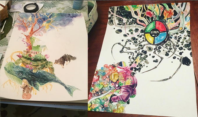 Watercolor Commissions by David Brame