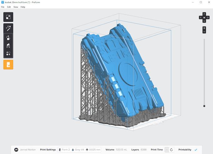 Form 2 Print using PreForm Software