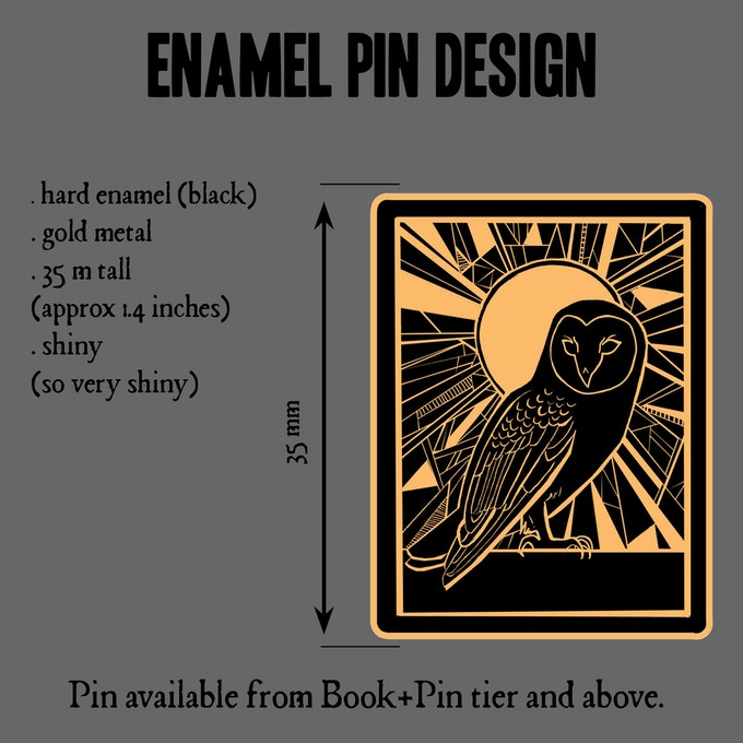A glorious enamel pin badge, with owl.