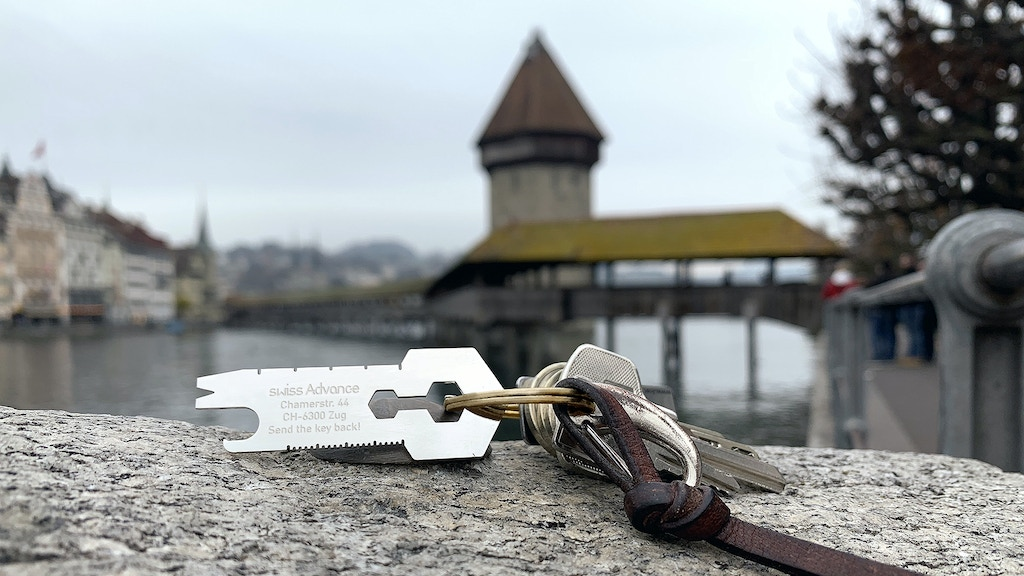 CRONO KEY - keychain multi tool with lost & found function project video thumbnail