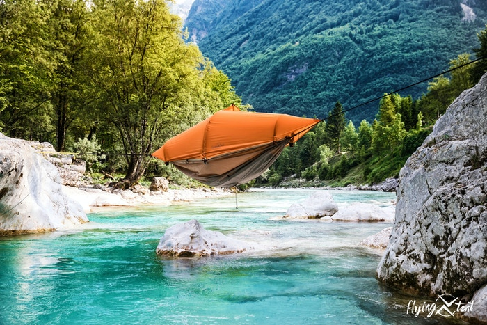 The world's first all-in-one floating tent, bivy tent, hammock, rain poncho and much more.