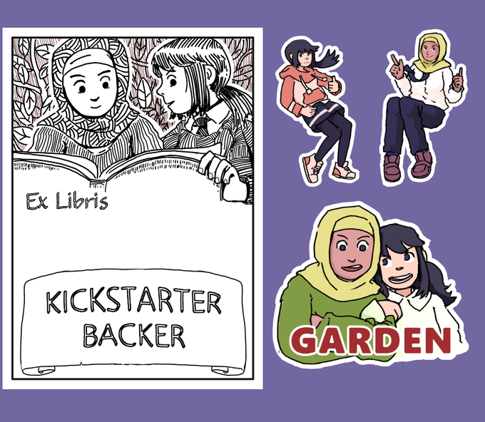 UPDATED: Bookplates for everyone, stickers for the goodie tiers...