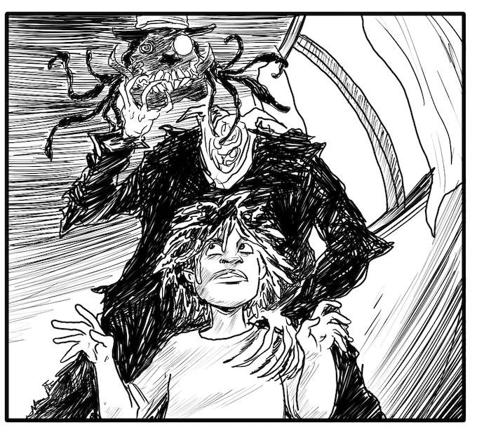 The Haunting of Rawhead & Bloody Bones - Art by David Brame