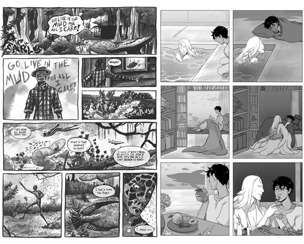 Preview of Rowan Fridley and Skylar Kardon's comics.