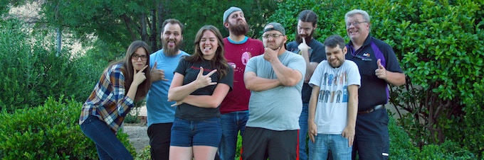 The DNELabs Team. (Not pictured: Cam B. and Zack O.)