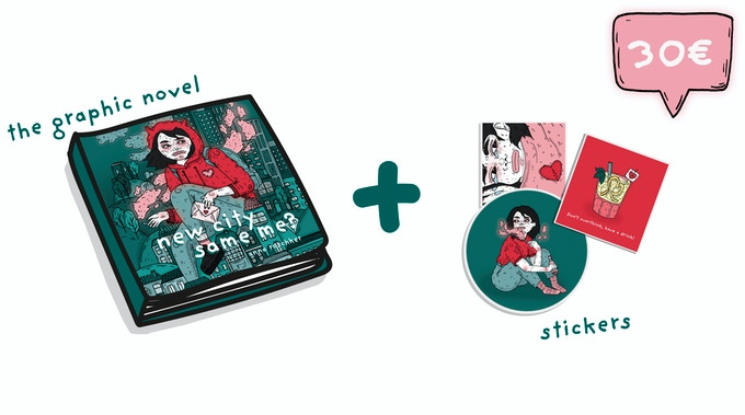 THE GRAPHIC NOVEL | Every backer of the book will get an exclusive Sticker-package ♡