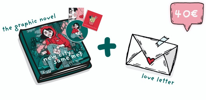 THE GRAPHIC NOVEL + LOVE LETTER | personal handwritten love letter by me just for you ♡