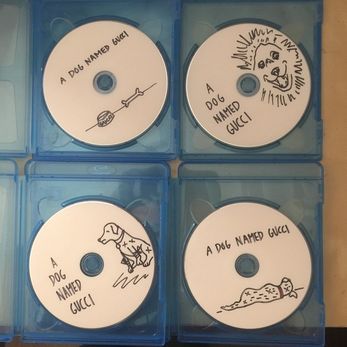 An example of the hand-drawn blu-rays for another of our films. Each PIZZA, A LOVE STORY blu-ray will be unique.