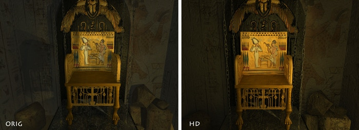 Comparison between the original (left) and new HD (right)