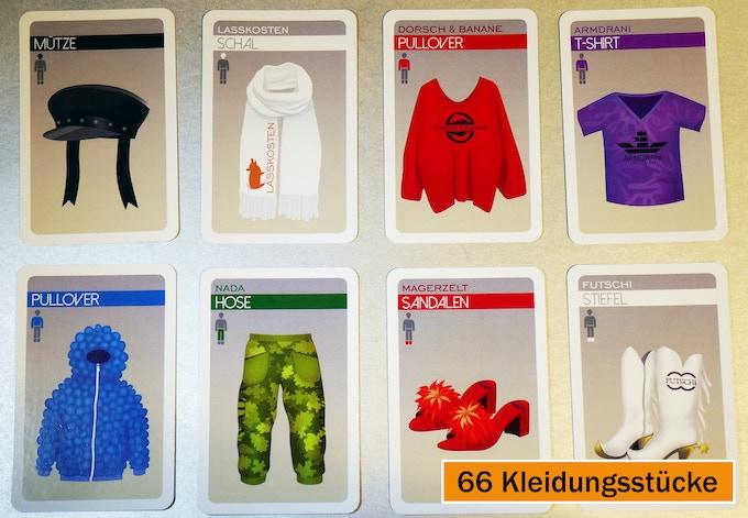 Auswahl der Kleidungsstücke