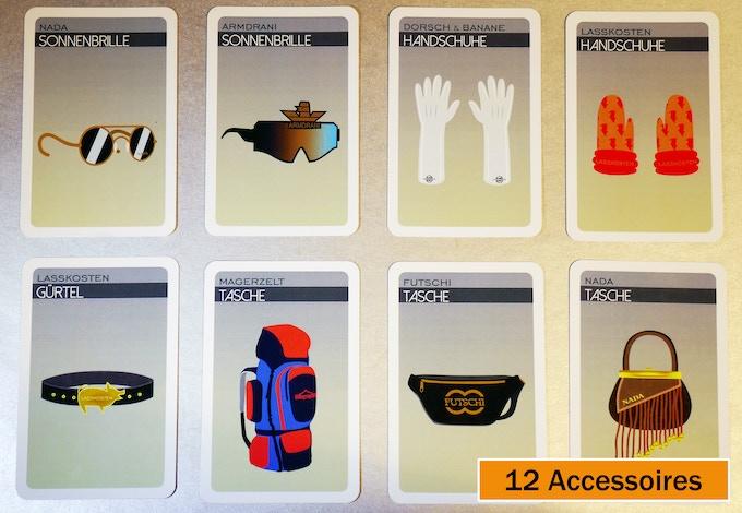 Auswahl der Accessoires