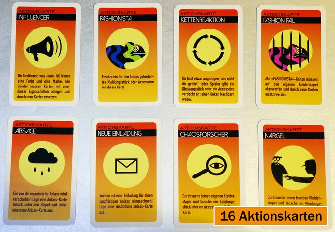 Auswahl der Aktionskarten