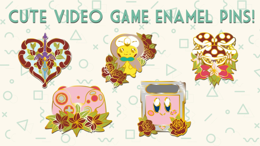 Cute Gaming Enamel Pins