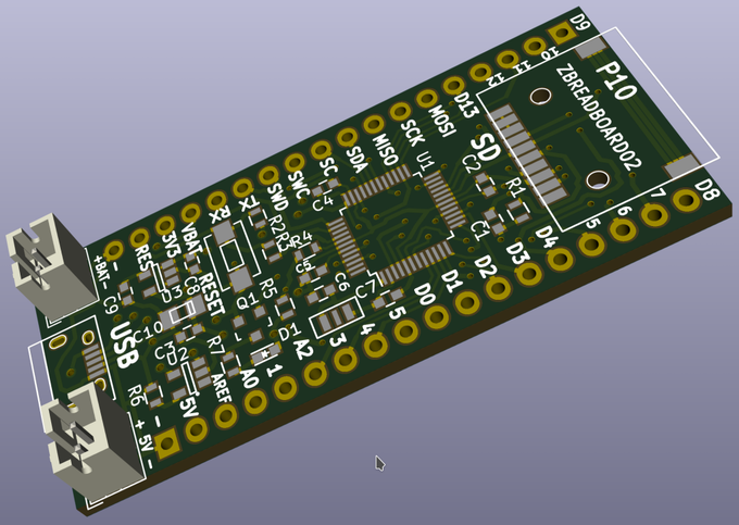 Zero BZ1, (Arduino-Compatible) with SD and LiPo charger  by