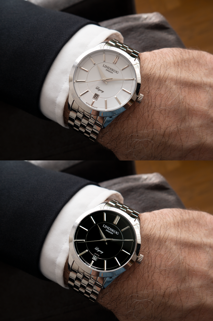 Stainless Steel - White/Black Dial