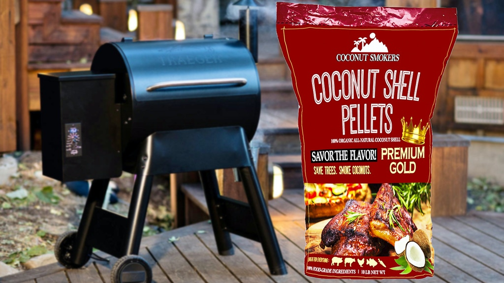 Coconut Shell Barbecue Pellets: SAVE TREES. BURN COCONUTS.