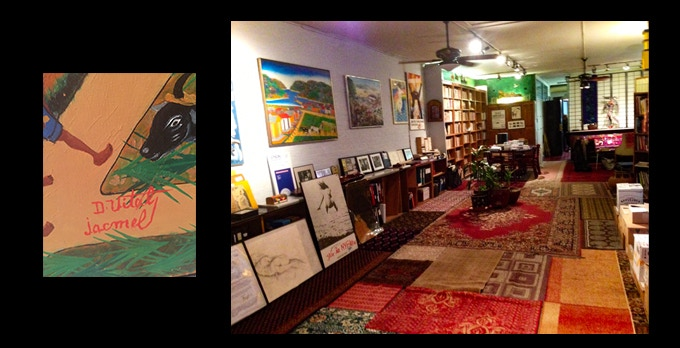 Vital painting in Barney Rosset's loft