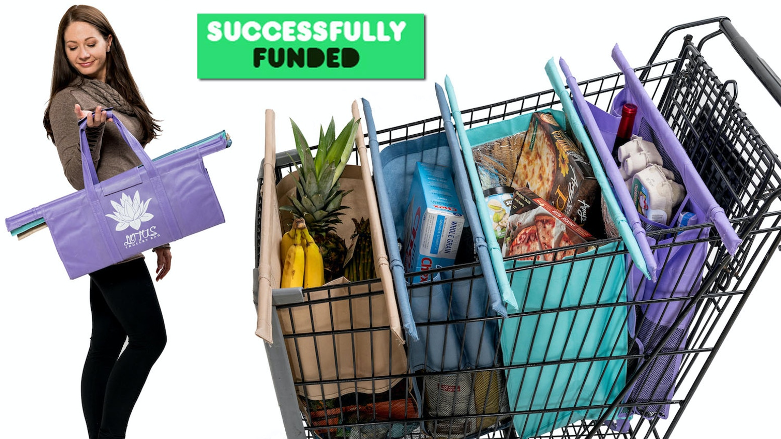 Smart. Organized. Impactful. The stylish way for a plastic FREE grocery shopping experience.