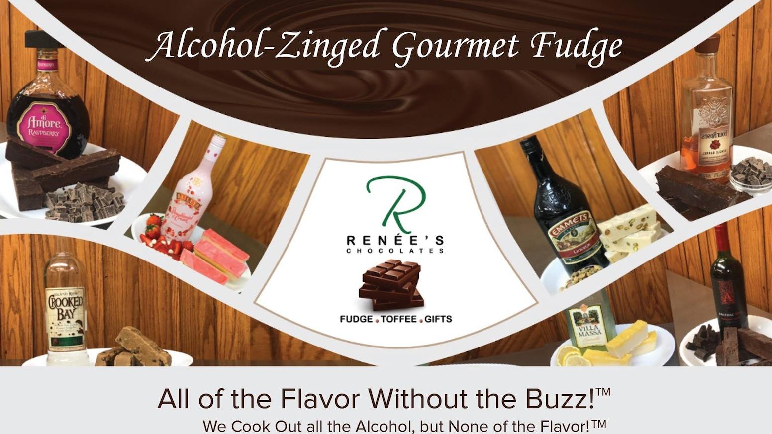 Alcohol-Zinged Gourmet Fudge! Help Create Jobs! by Renée's