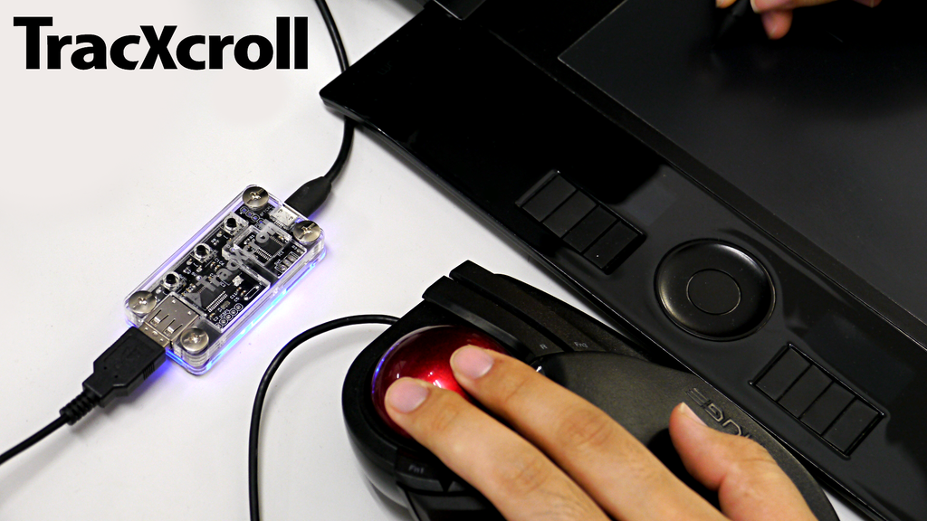 """TracXcroll"" change your trackball to the scroller project video thumbnail"